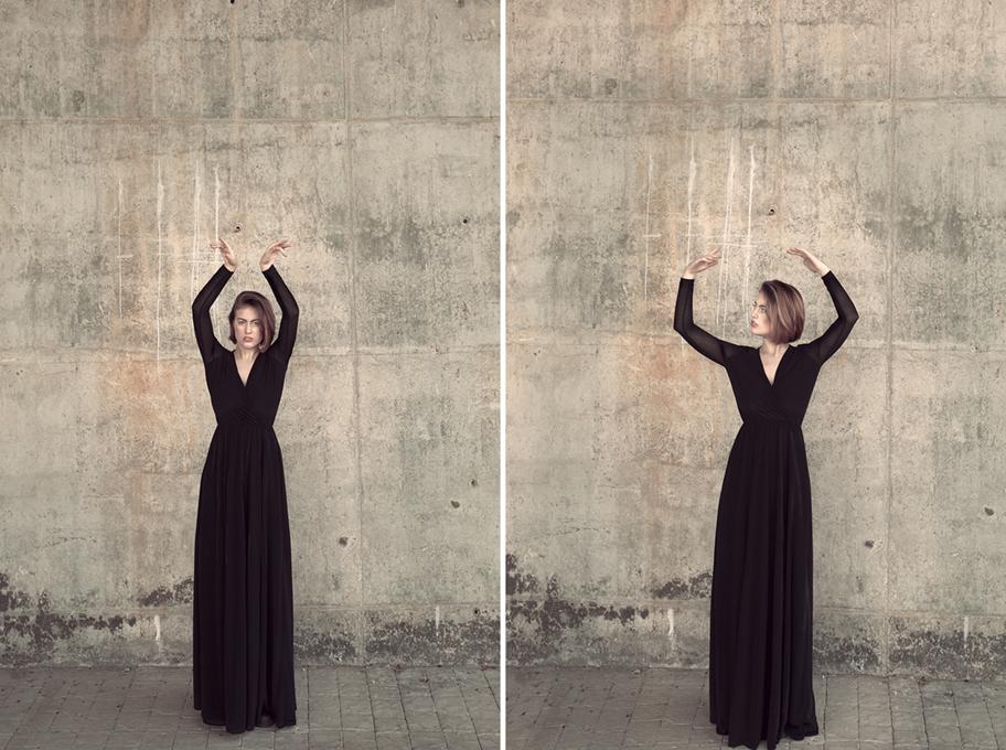 sesión de fotos con Marisa Quiroga